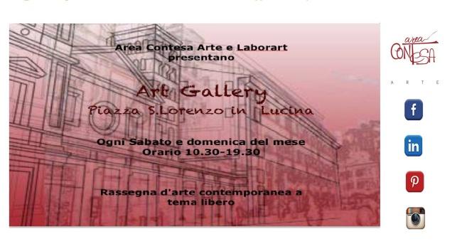 Apertura dell'Art Gallery in Piazza San Lorenzo in Lucina